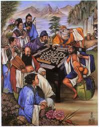 Chineses Antigos jogando Mahjong