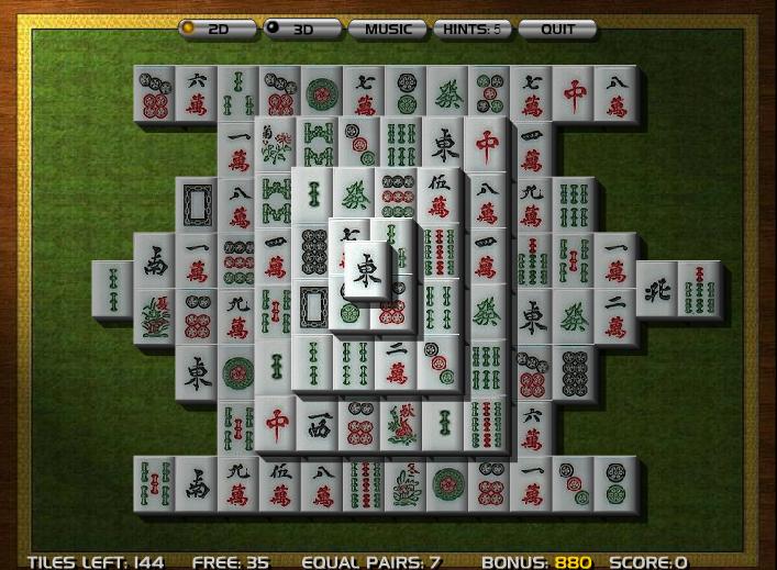 Jogo Mahjong 3D