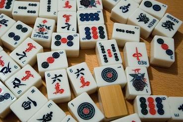 Pedras tradicionais de Mahjong